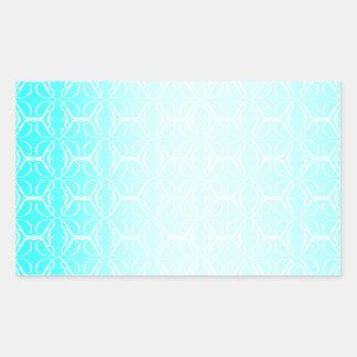 Pale Blue Linked Background Rectangular Sticker