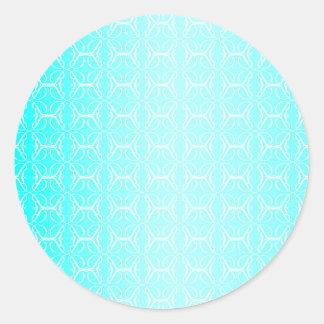 Pale Blue Linked Background Round Sticker