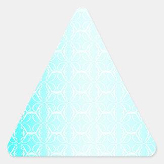 Pale Blue Linked Background Triangle Sticker