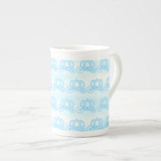 Pale Blue Pattern of Princess Carriages Bone China Mug