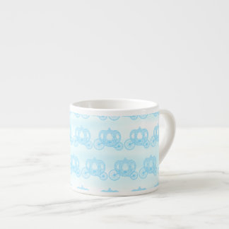 Pale Blue Pattern of Princess Carriages Espresso Cup
