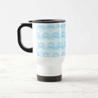 Pale Blue Pattern of Princess Carriages Stainless Steel Travel Mug