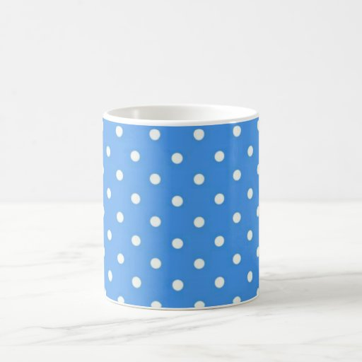 Pale Blue Polka  Dot Art Mugs