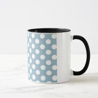 Pale Blue Polka Dot Art Mug