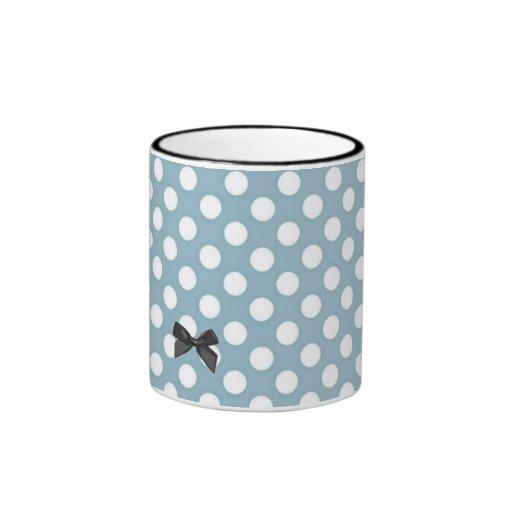 Pale Blue Polka Dot Art Coffee Mug