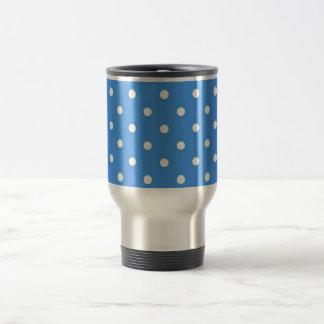 Pale Blue Polka  Dot Art Stainless Steel Travel Mug
