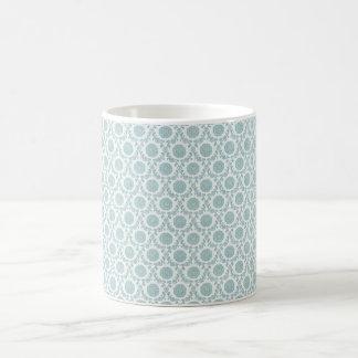 Pale Blue Retro Art Basic White Mug