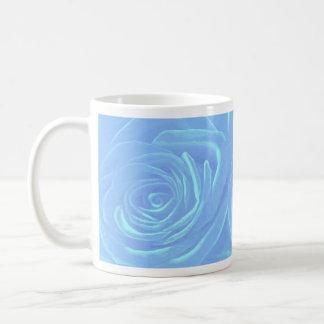 Pale Blue Roses Basic White Mug