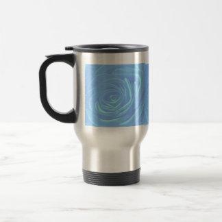 Pale Blue Roses Stainless Steel Travel Mug