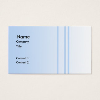 Pale Blue Simple Elegant Design. Business Card