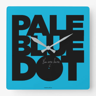 Pale Blue Square Wall Clock