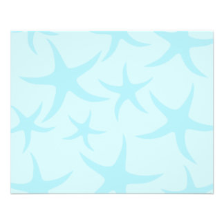 Pale Blue Starfish Pattern Full Color Flyer