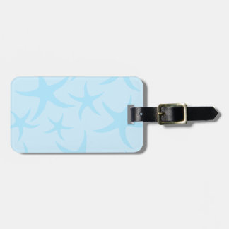 Pale Blue Starfish Pattern. Luggage Tag