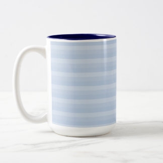 Pale Blue Stripes. Two-Tone Mug