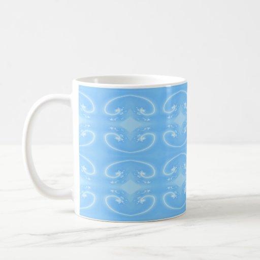 Pale Blue Swirl Pattern. Mug
