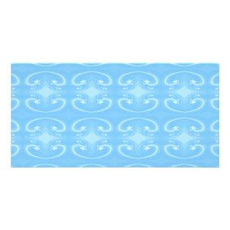 Pale Blue Swirl Pattern. Customized Photo Card