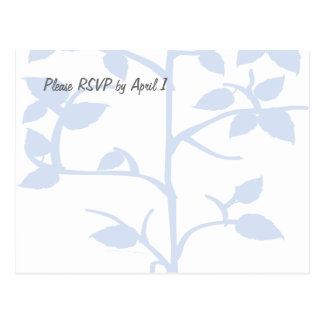 Pale Blue Tree RSVP Postcard