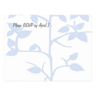 Pale Blue Tree RSVP Postcard