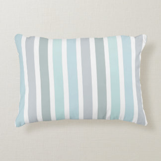 Pale Blue Turquoise Stripes Pattern Decorative Cushion