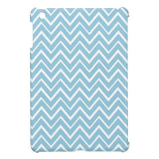 Pale blue whimsical zigzag chevron pattern iPad mini covers