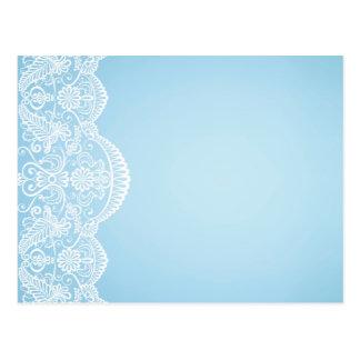 pale blue,white lace,template,add text monogram, postcard