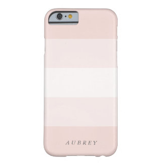 Pale Blush Pink Gradient Colorblock Barely There iPhone 6 Case