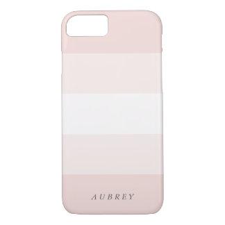 Pale Blush Pink Gradient Colorblock iPhone 8/7 Case