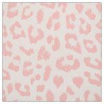 Pale Blush Pink Leopard Print Fabric