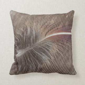 Pale Brown Feather Still Life Cushion
