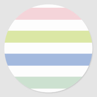 Pale Coloured Stripes Stickers