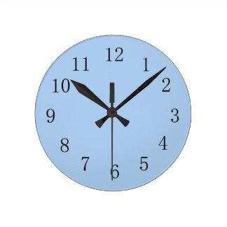Pale Cornflower Blue Kitchen Wall Clock
