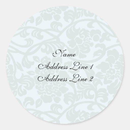 Pale Damask Address Labels Stickers