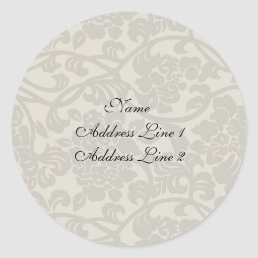 Pale Damask Address Labels Stickers