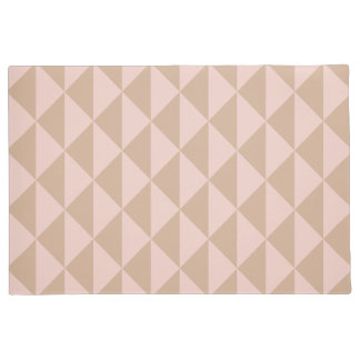 Pale Dogwood Pink and Hazelnut Brown Geometric Doormat