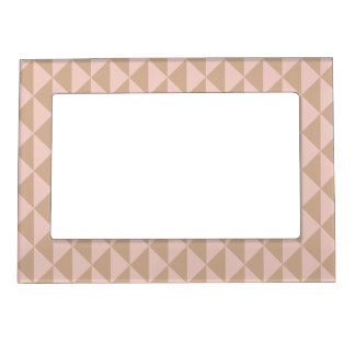 Pale Dogwood Pink and Hazelnut Brown Geometric Magnetic Picture Frame