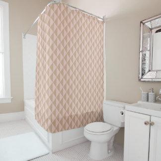 Pale Dogwood Pink and Hazelnut Brown Geometric Shower Curtain