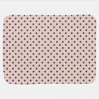 Pale Dogwood with Niagara Blue Polka Dots Baby Blanket