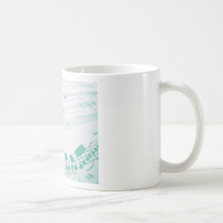 Pale Faded Blue Sheet Music Photography Basic White Mug