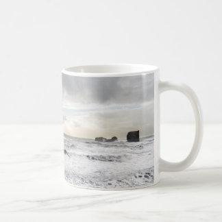 Pale foamy ocean seascape, Iceland Coffee Mug