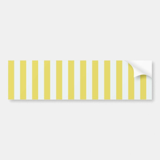Pale Gold And White Stripes Bumper Stickers