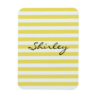 Pale Gold and White Stripes by Shirley Taylor Magnet