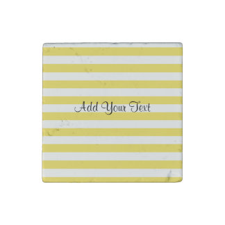 Pale Gold and White Stripes by Shirley Taylor Stone Magnet