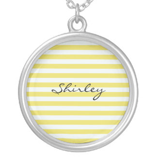 Pale Gold And White Stripes Jewelry