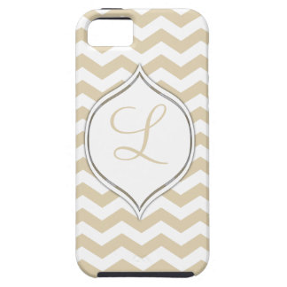 Pale Gold Chevron With Your Choice Of 2nd Color Case For The iPhone 5