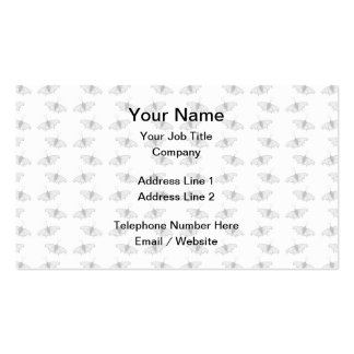 Pale Gray Butterfly Pattern. Business Card Templates