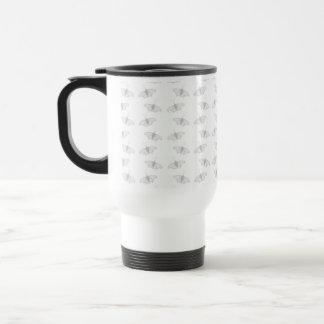 Pale Gray Butterfly Pattern. Mugs