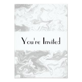 Pale Gray Random Pattern. 13 Cm X 18 Cm Invitation Card