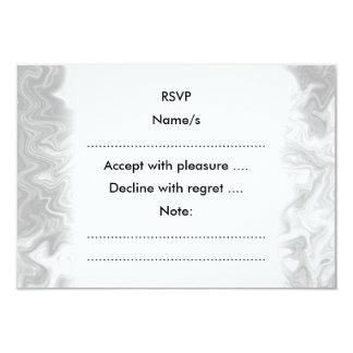 Pale Gray Random Pattern. 9 Cm X 13 Cm Invitation Card