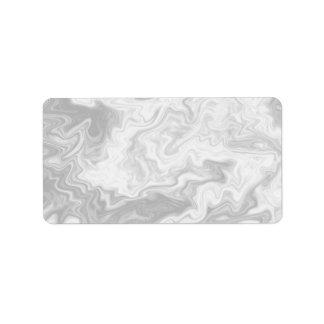 Pale Gray Random Pattern. Address Label