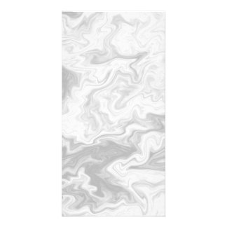 Pale Gray Random Pattern. Picture Card